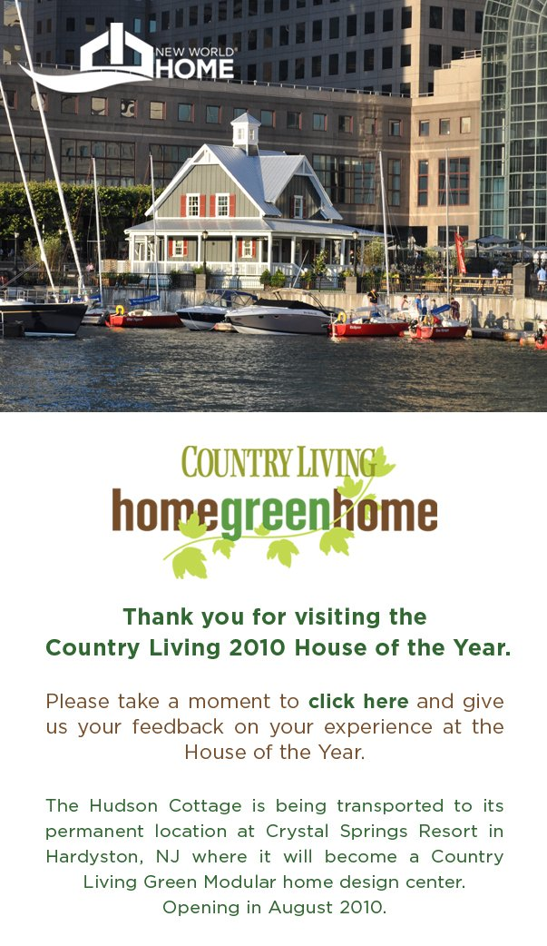 Thank you for visiting the Country Living 2010 House of the Year