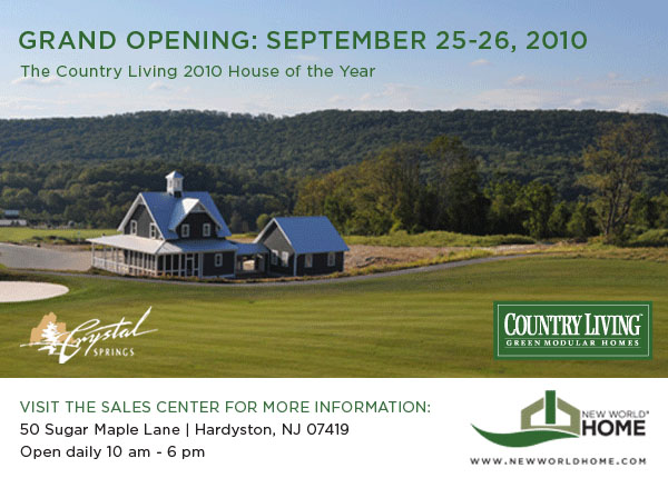 The Country Living 2010 House of the Year now at Crystal Springs Resort