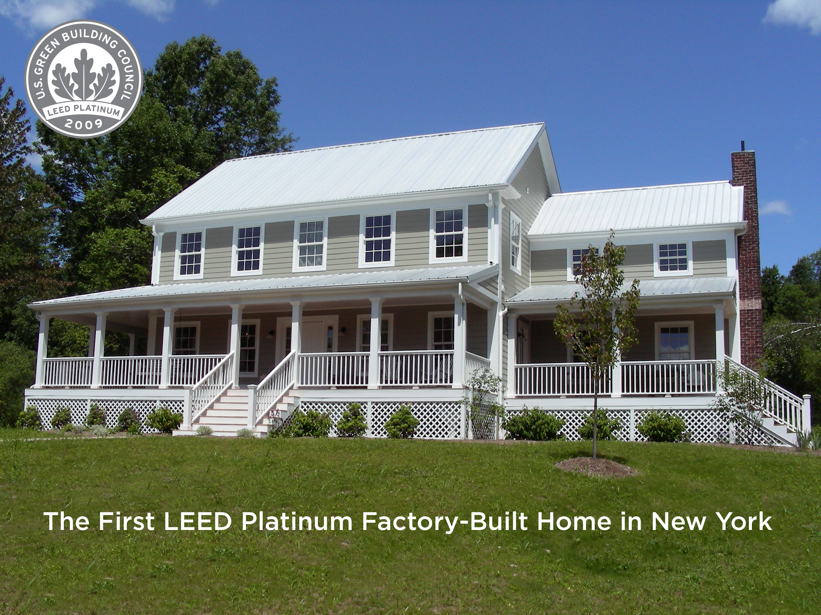 The First USGBC LEED Platinum Factory-Built Home in New York State now for Sale
