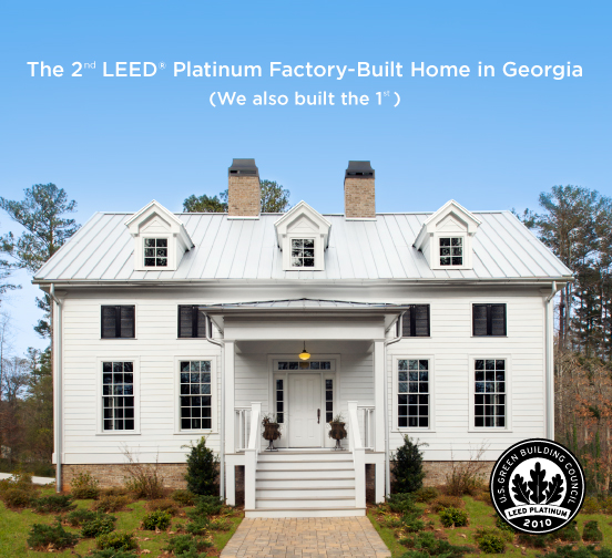 Second LEED Platinum Factory-Built Home in Georgia now available for Purchase